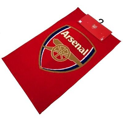 Arsenal FC Official Crested Bedroom Rug / Mat Size 80cm x 50cm Present Gift