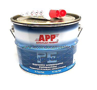 4kg Mastic universel garnissant polyester , auto, carrosserie