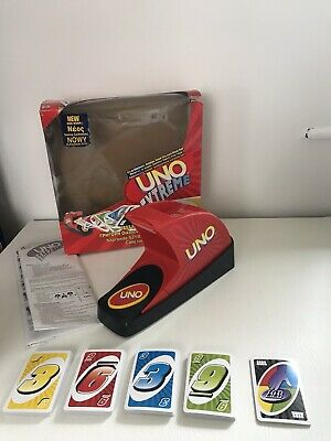 Uno Extreme Electronic Card Game Machine With Box and Cards VGC