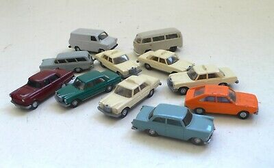 1970's Set of 11 Wiking Auto Modelle Car Models 1:87 Scale HO