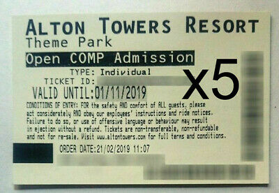 Pair of Alton Towers Tickets - Open Date until end of October - Scarefest