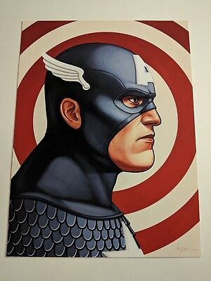 Captain America Mike Mitchell Signed Mondo Marvel Print Poster MCU Avengers