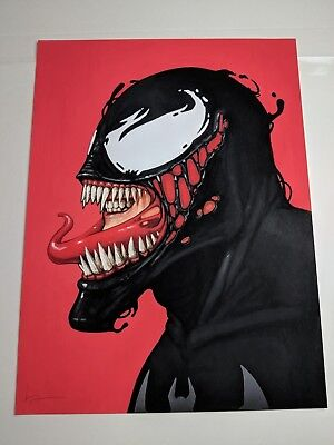 Venom Mike Mitchell Signed Mondo Marvel Print Film Poster Spider-man MCU
