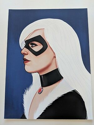 Black Cat Spider-Man Mike Mitchell Signed Mondo Marvel Print Poster