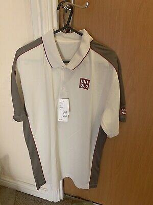 Brand New Roger Federer Uniqlo French Open 2019 Roland Garros Polo Shirt Medium