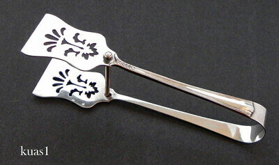 "K Uyeda .930 Sterling Asparagus Sandwich Server 8 3/4"" - No Mono"