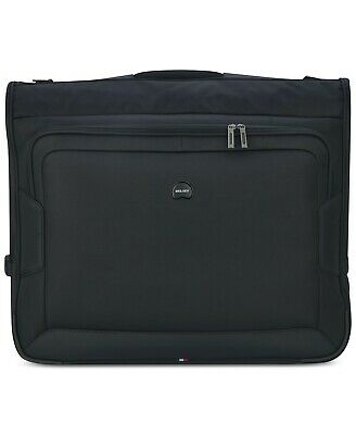 $220 Delsey Opti-Max Book Opening Garment Bag Luggage Suitcase Black