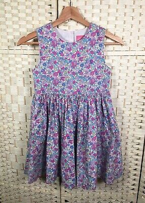 Girls Joules Sleeveless 100% Cotton Summer Ditsy Floral Fit & Flare Dress 8yrs