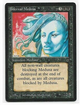 Infernal Medusa Legends MINT Black Uncommon MAGIC THE GATHERING CARD ABUGames