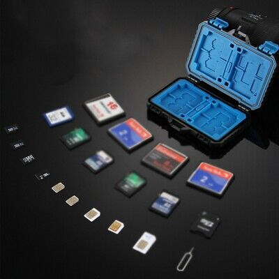 Waterproof Memory Card Case Holder Storage Box 26 Slots for SD SDHC TF Micro
