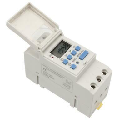 AC 220V 16A Digital LCD DIN Programmable Weekly Rail Timer Time Relay Switch LJ