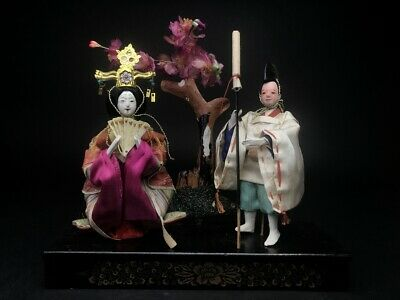 2 Antique Empress NINGYO Japanese Dolls HINA GEISHA and DAIRI Imperial Servant