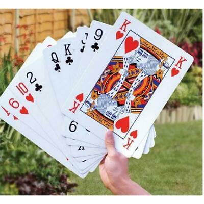 JUMBO PLAYING CARDS GIANT King Size Huge Poker Big Deck Family Party Game Useful