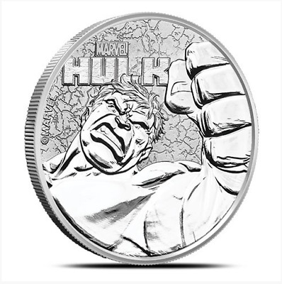 *FREE Gift* HULK MARVEL SERIES 1oz Pure Silver Coin IN CAPSULE Tuvalu