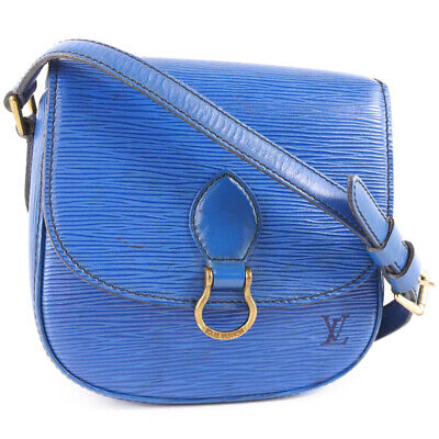 AUTHENTIC LOUIS VUITTON M52215 Mini Saint Cloud Shoulder Bag Toledo Blue B...