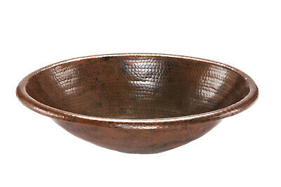 Premier Copper Products - Oval Self Rimming Hammered Copper Sink