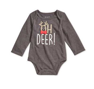 First Impressions Baby Boys Oh Dear Graphic Bodysuit