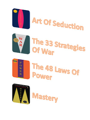 The Robert Greene 4 Books Set (Art Of Seduction, 48 Laws,33 Strategies,Mastery)