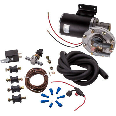 "Electric Vacuum Pump Kit for Brake Booster 12 Volt 18"" to 22"" w/Vacuum Hose"