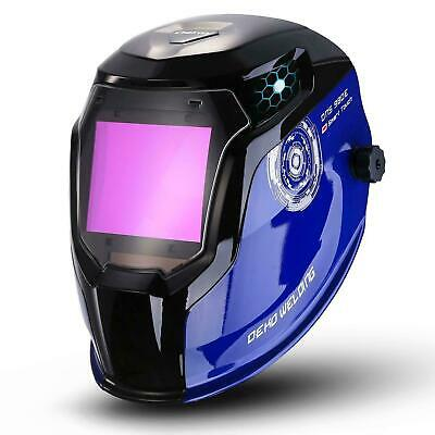 DEKO Upgraded Solar Power Auto Darkening Welding Helmet Shade Range 4/5-8.5/9-13