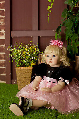 """Reborn Dolls Toddler 23"""" Big Baby Soft Silicone Real Life Cute Girl Xmas Gifts"""