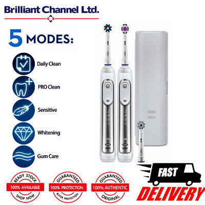 Oral-B Genius 8900 Electric Rechargeable Toothbrush - Silver