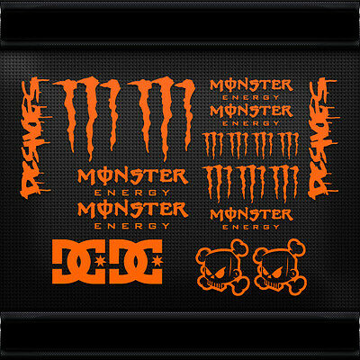 20x SET MONST KEN BLOCK DC SHOES DECALS STICKERS CAR MOTORBIKE BMX BIKE HELMET