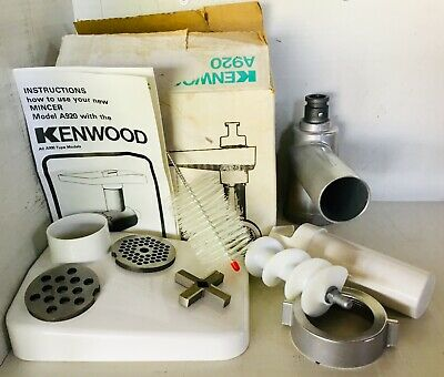 KENWOOD A920 Mincer Complete AS NEW Original BOX & MANUAL