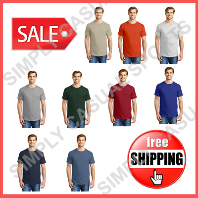 New Hanes Mens T-Shirt Tagless w/ Pocket, Soft & Cool, 100% Cotten, 5590
