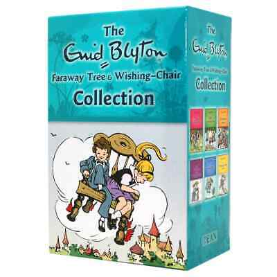 NEW Faraway Tree & Wishing Chair 6 Books Collection Classic Gift Set Enid Blyton