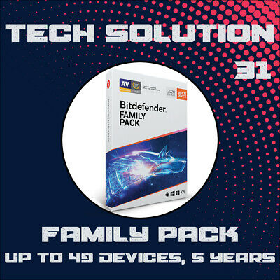 Bitdefender Family Pack 2020 - Unlimit-Dev, 5 Years + Support + Proof of Genuine