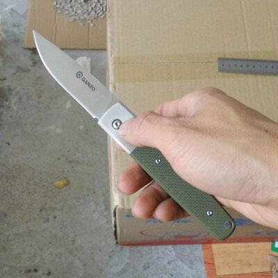 Ganzo G7211-GR EDC Tactical Knife Hunting Tool Folding Knife 440C Blade