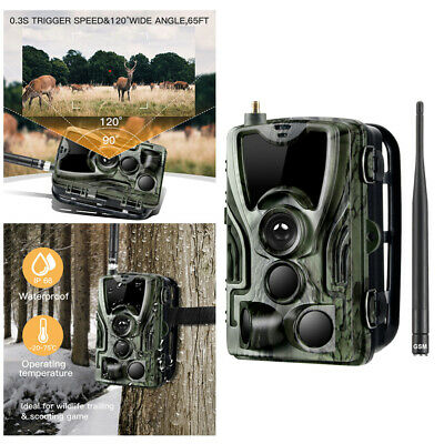 1080P Caméra de Chasse Cachée Nocturne IR HD Nuit Vision GPRS/GSM/MMS/SMTP/SMS