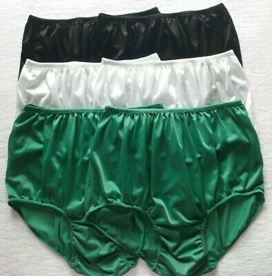 6x Silk Nylon Panties Size XXL Vintage Style Knicker Men Underwear Women Sleep