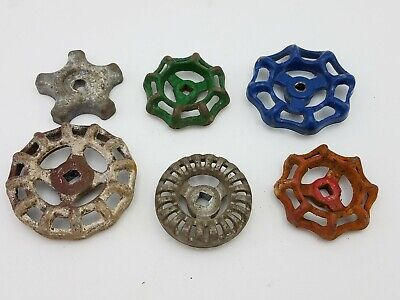 6pcs Vintage Industrial Metal Outdoor Faucet Hose Bib Handle Knob Steampunk Art