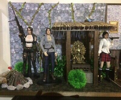 1/6 OR 1/10 scale custom diorama for action figures Tomb Raider-Jungle  Shrine