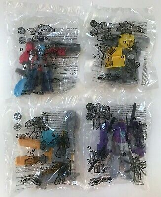 2019 Burger King Hasbro TRANSFORMERS CYBERVERSE Toys Complete Set Of 4 Free Ship