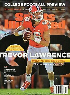 Sports Illustrated 2019 College Football Preview- Trevor Lawrence Clemson Tigers