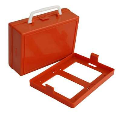 Empty 1-5 Person Small First Aid Orange Box  With Snap On Wall Bracket