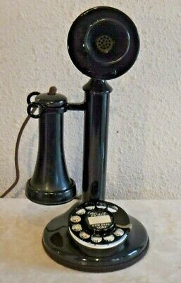 Western Electric Vintage Rotary Dial Wired and Working Candlestick Telephone