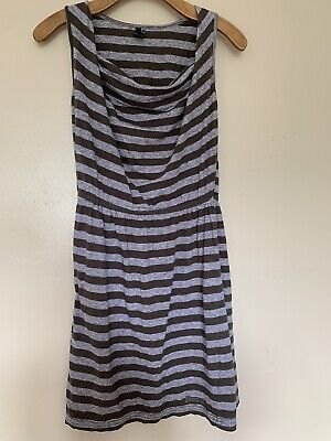 Ladies Girls Striped Casual Summer Beach Dress, Size Small By Bench.