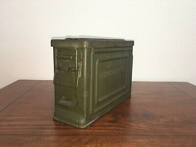 Wwii Us Military .30 Cal Ammo Can - Original Paint- Army Usmc 30 Ammunition 1919