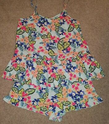 Matalan Candy Couture Girls floral Top & Shorts Set - Age 13 Years - Excellent