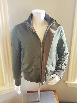 4b5c5a791 RARE SCHOTT NYC Perfecto Brand Tanker Jacket #P8587 in Olive Bomber Coat 1  of 75