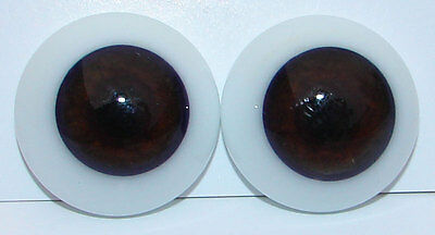 Reborn Dolls Real Glass Flat Back Eyes, Brown - 24 Mm