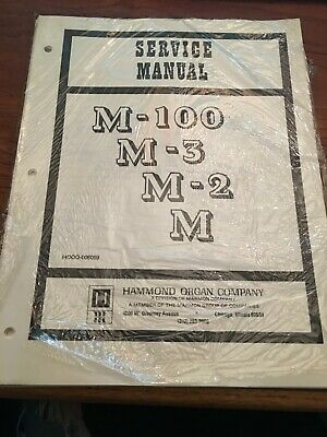 SERVICE MANUAL HAMMOND M-3, M-2, M-100, M3, M2, M100 M