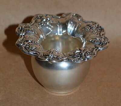 """Reed & Barton Francis I Sterling Silver Toothpick Holder X57 - 3 1/2"""" - 79g"""