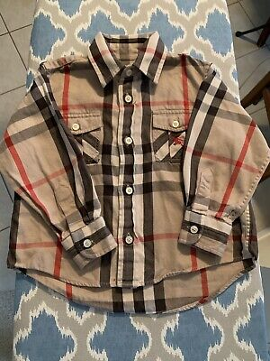 Authentic Burberry Plaid Button Down Shirt Toddler Shirt Size 3y