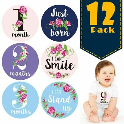 12Pcs Newborn Baby Monthly Sticker Pregnant Women Photograph Stickers Milestone