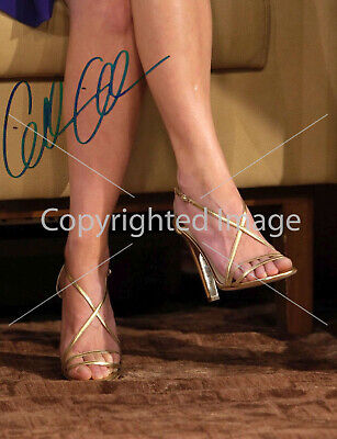 GILLIAN ANDERSON: 8.5x11 Signed Reprint RP Photo Sexy Legs Feet Heel Toes
